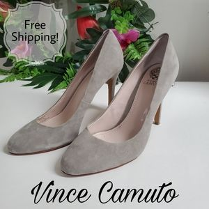 Vince Camuto gray heels size 10
